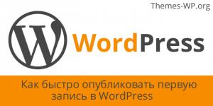Как быстро опубликовать запись в WordPress