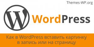 Как в WordPress вставить картинку в запись или на страницу