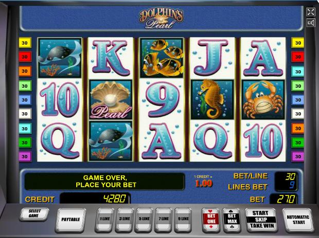 Игровой автомат Dolphin's Pearl - большая удача искателям морских сокровищ в казино Вулкан