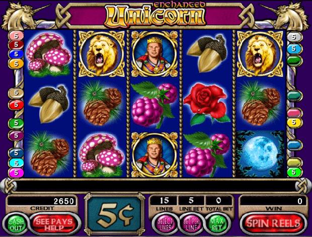 Игровой автомат Enchanted Unicorn - волшебный единорог дарит деньги игрокам казино Вулкан 777