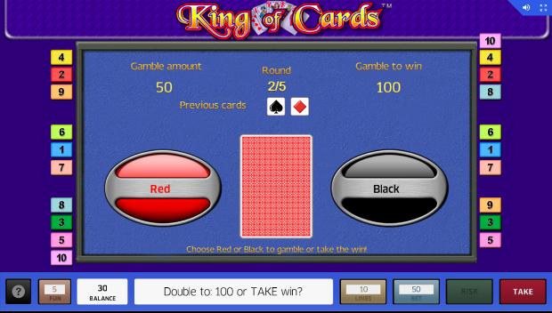 Игровой автомат King of Cards - внушительные выигрыши на официальный сайт Вулкан Старс