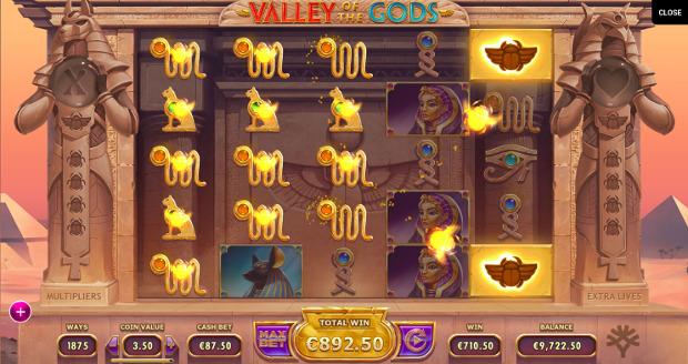 Игровой слот Valley of The Gods - играй в самые щедрые онлайн автоматы от Yggdrasil
