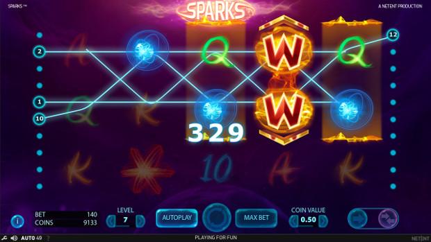 Игровой автомат Sparks - в самые щедрые слоты от NetEnt играй в Эльдорадо казино