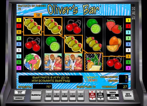 Игровой автомат Oliver's Bar - регулярные выигрыши в казино Франк онлайн